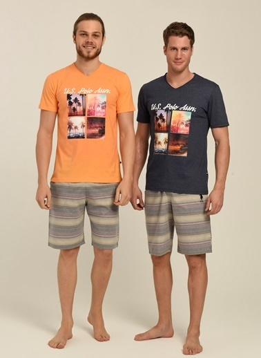 U.S. Polo Assn. Pijama Takım Oranj